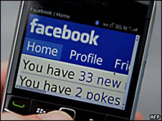 Facebook en un BlackBerry