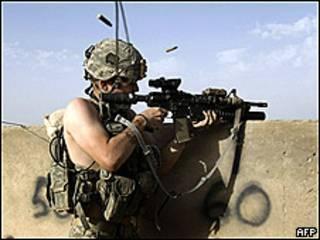 Soldado del Ejército de Estados Unidos en Afganistán