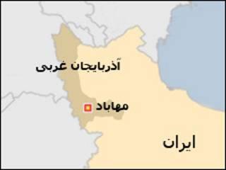 نقشه مهاباد