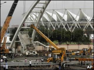 O estádio Jawaharlal Nehru, em Nova Déli