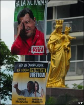 Carteles de campaña en Venezuela