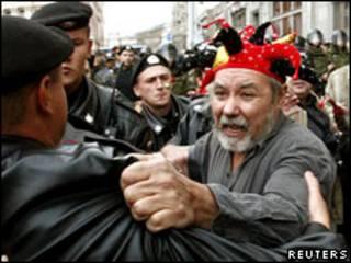 Разгон акции протеста в Москве