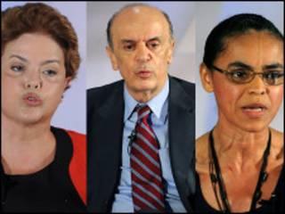 Os três principais candidatos à Presidência