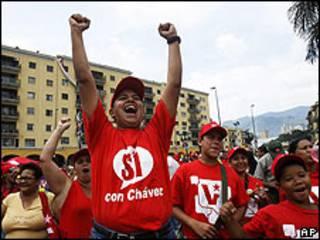 Simpatizantes del chavismo