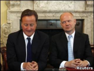 David Cameron e William Hague
