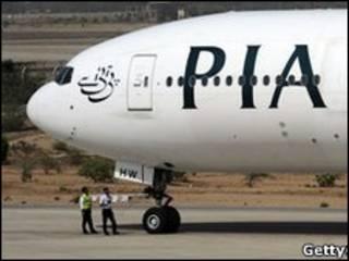 Avión paquistaní en Estocolmo