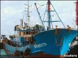 Pesquero chino retenido en Japón