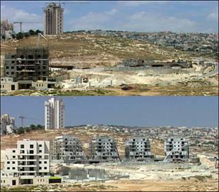"""صورتان لمستوطنة هار حوما """"قبل وبعد"""" التجميد الذي دام 10 اشهر"""