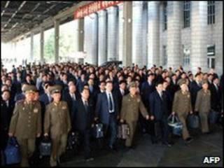 نمایندگان حزب کارگران کره شمالی