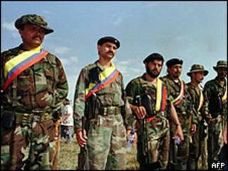 Foto de archivo de miembros de las FARC