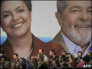 Comício de Dilma e Lula
