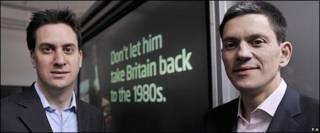 Ed y David Miliband