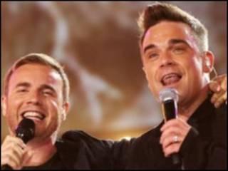 Gary Barlow y Robbie Williams