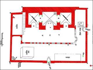 न्यायलय को दिया गया अयोध्या स्थल का नक्शा