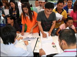 ထိုင်းနိုင်ငံရောက်မြန်မာ အလုပ်သမားများ