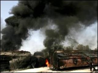 احد الهجمات الامريكية على باكستان