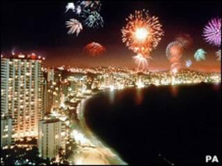 Акапулько ночью