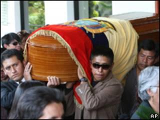 Enterro de Juan Pablo Bolaños (Foto: AP)