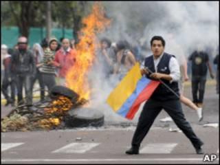 Protesto no Ecuador