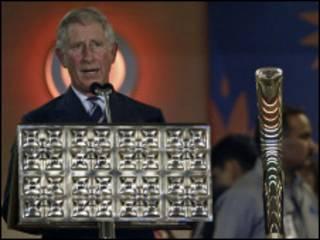 प्रिंस चार्ल्स राष्ट्रमंडल खेलों का उद्घाटन करते हुए