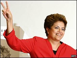 Dilma Rousseff, candidata más votada en las elecciones de Brasil.