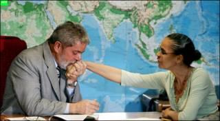 Marina Silva y Lula en una foto de 2006.