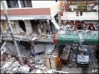 Hiện trường vụ nổ bom
