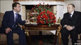 Медведев и Бутефлика