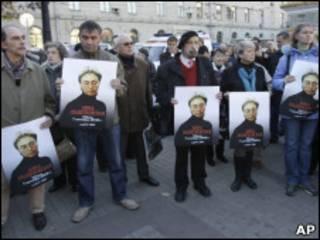 Митинг памяти в честь Анны Политковской