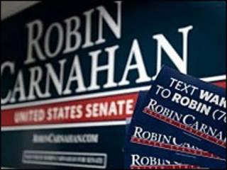 Плакат в поддержку Робин Карнахан