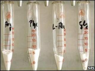 آمینو اسیدها در لوله های آزمایشگاه
