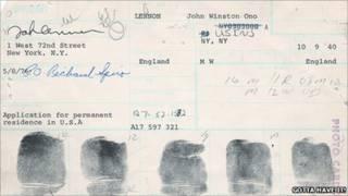 Thẻ vân tay của John Lennon