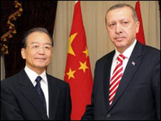 中国总理温家宝和土耳其总理埃尔多安
