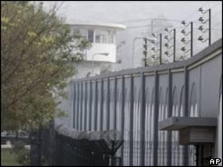 囚禁刘晓波的监狱外墙