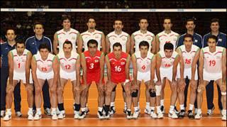 تیم ایران- عکس از وب سایت فدراسیون والیبال آسیا