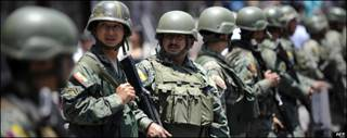 Soldados ecuatorianos