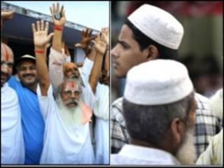 مسلمون وهندوس يطالبون بأرض مسجد بابري