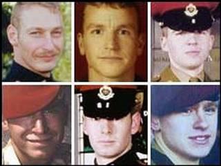 الجنود البريطانيون القتلى