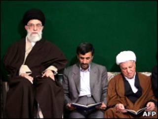 اکبر هاشمی رفسنجانی، محمود احمدی نژاد و علی خامنه ای