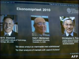 Anúncio de premiação do Nobel de Economia
