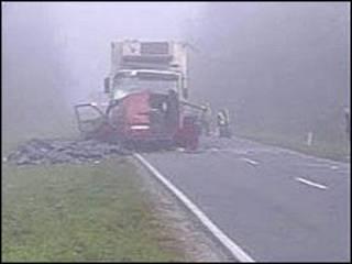 Кадр с места аварии в Польше