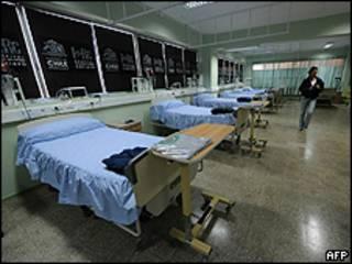 Hospital de Copiapó foi preparado para receber mineiros (AFP)