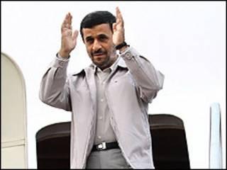 احمدی نژاد هنگام ترک تهران