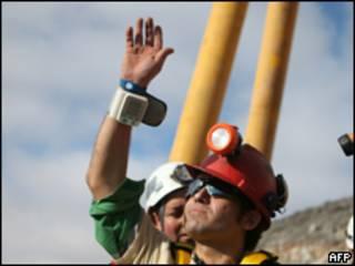 Alex Vega, uno de los mineros rescatados