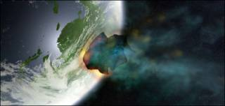 Asteroide generado por computadora