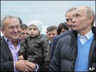 Жан-Клод Килли и Владимир Путин