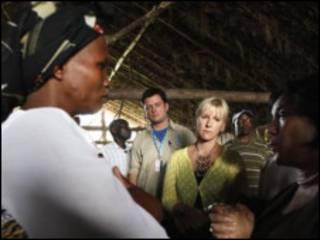 والستروم در دیدار از کنگو