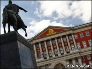 Мэрия Москвы и памятник Юрию Долгорукому на Тверской