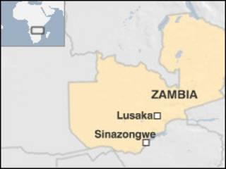 Ramani ya Zambia