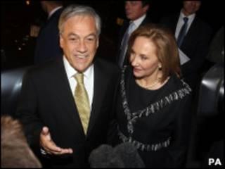 Sebastián y Cecilia Piñera
